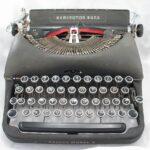 typewriter, black, old
